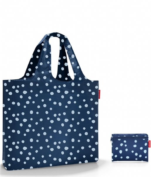 ee441c58a0c Mini Maxi Beachbag spots navy Reisenthel | The Little Green Bag