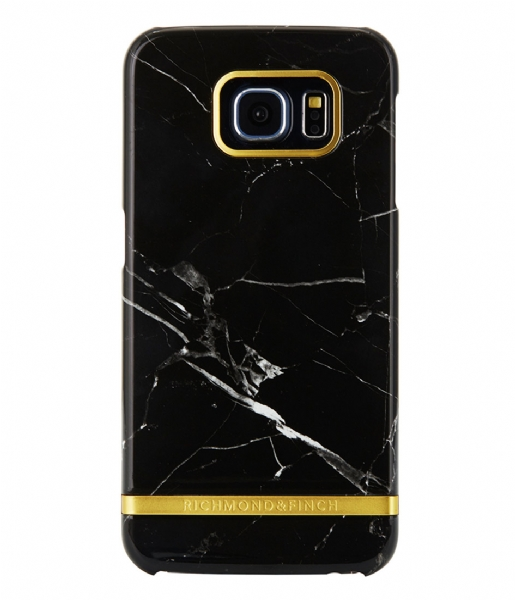 Richmond & Finch Smartphone cover Samsung Galaxy S6 Edge Marble Glossy black marble (12)