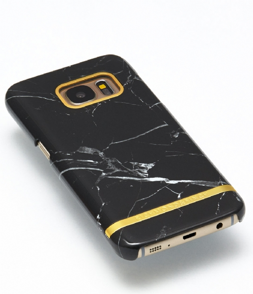 Richmond & Finch Smartphone cover Samsung Galaxy S7 Edge Cover Marble Glossy black marble (12)