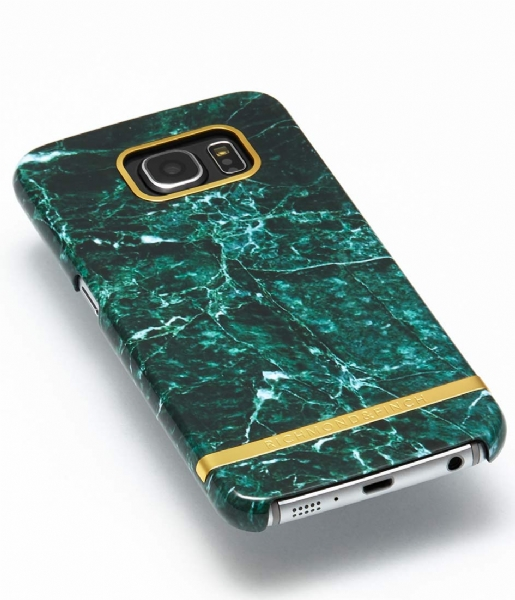 Richmond & Finch Smartphone cover Samsung Galaxy S6 Edge Marble Glossy green marble (10)