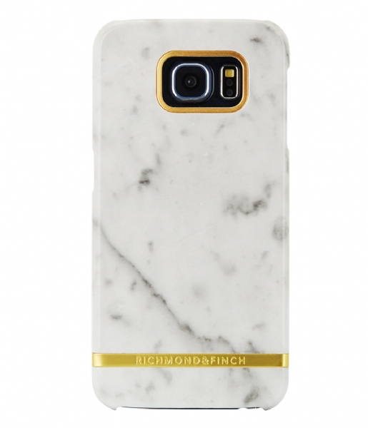 Richmond & Finch Smartphone cover Samsung Galaxy S6 Edge Marble Glossy white marble (11)