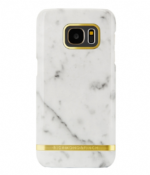 Richmond & Finch Smartphone cover Samsung Galaxy S7 Edge Cover Marble Glossy white marble (11)