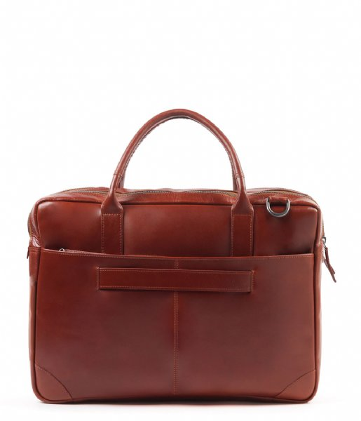 Royal RepubliQ Laptop schoudertas Explorer Laptop Bag Double 17 Inch cognac