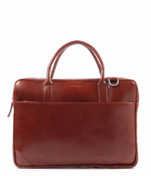 Royal RepubliQ Laptop schoudertas Explorer Laptop Bag Single 17 Inch cognac