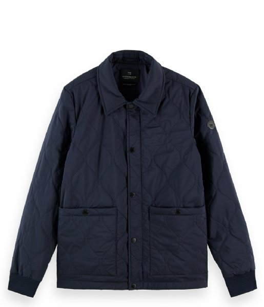Scotch and Soda jas Classic quilted cotton blend jacket Night (0002)