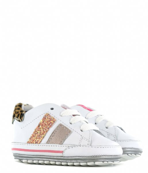 Shoesme Sneakers Baby-Proof White pink stripe