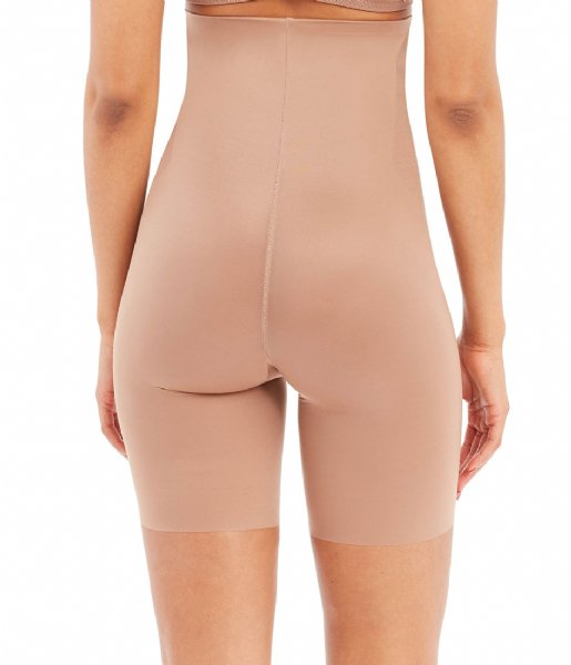 Spanx Nachtmode & Loungewear Thinstincts 2.0 High Waisted Mid Thigh Short Champagne Beige (1603)