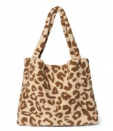 Studio Noos Teddy Leopard Mom Bag Ecru
