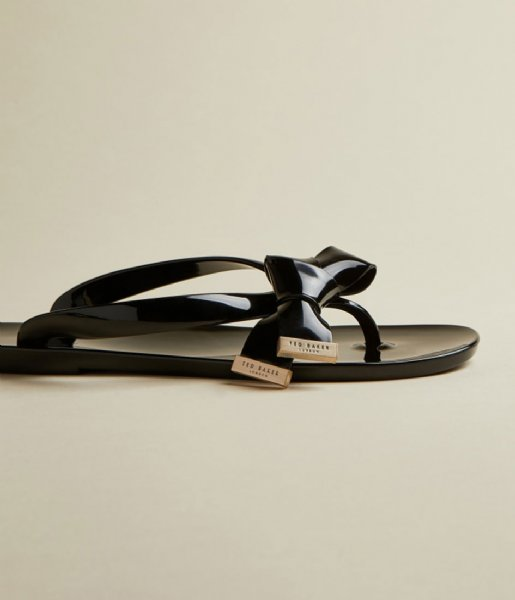 Ted Baker Slippers Luzzi Origami Bow Flip Flop Rude rude black