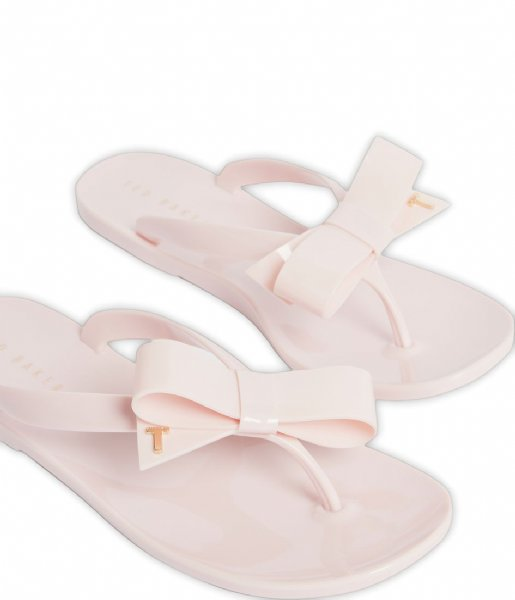 Ted Baker Slippers Bejouw Bow Detail Jelly Flip Flop Pink