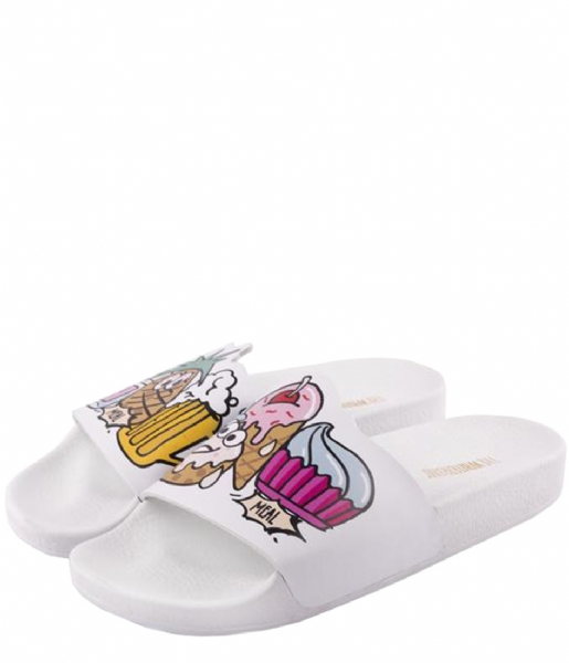 The White Brand Slippers Ice Cream White white