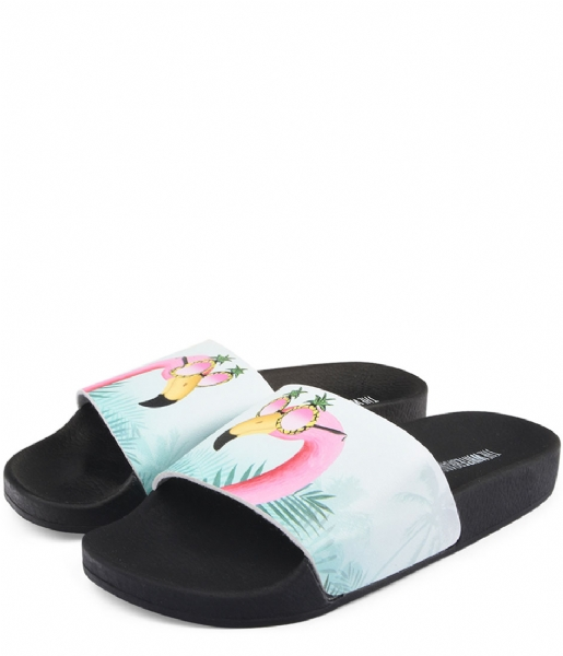 The White Brand Slippers Flamingo pink