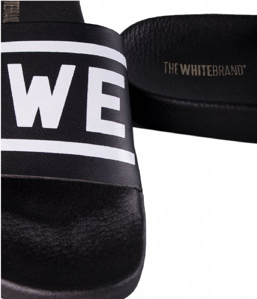 The White Brand Slippers Awesome 3D black