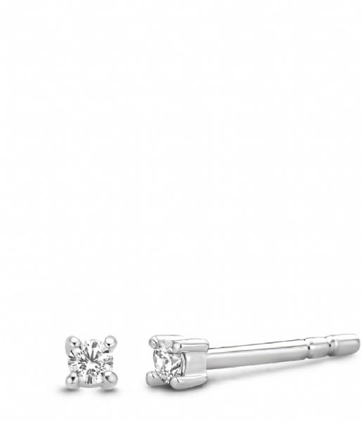TI SENTO - Milano Oorbellen 925 Sterling Zilver Earrings 7834 Zirconia white (7834ZI)