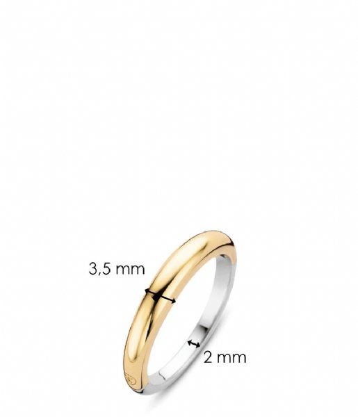 TI SENTO - Milano Ring 925 Sterling silver Ring 12104 zilver geelgoud verguld (12104SY)