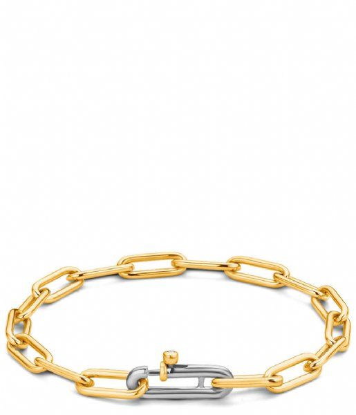 TI SENTO - Milano Armband 925 Sterling Zilveren Armband 2936 Silver gold plated (2936SY)