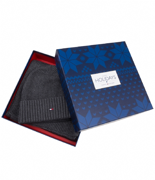Super Pima Cashmere Giftbox charcoal (904) Tommy Hilfiger | The Little UT-91