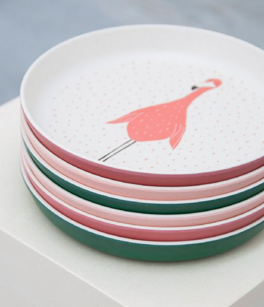 Trixie  Plate - Mrs. Flamingo Print