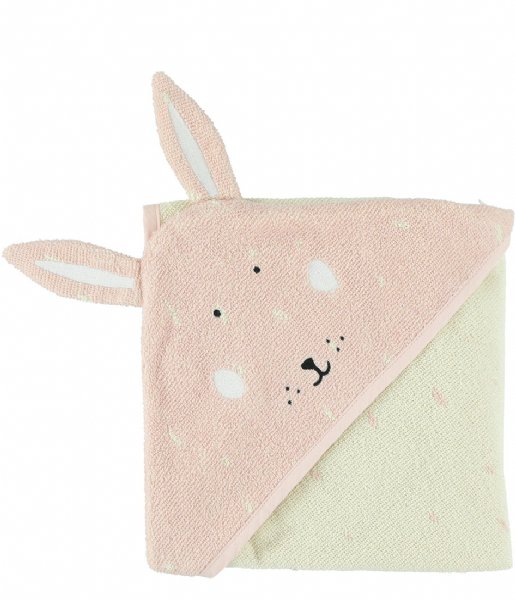 Trixie Plaid Hooded towel , 75x75cm - Mrs. Rabbit Pink