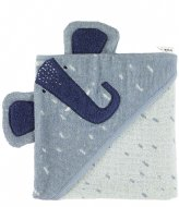Trixie Hooded towel , 75x75cm - Mrs. Elephant Blue