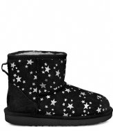 UGG Kids Classic Mini II Stars Black