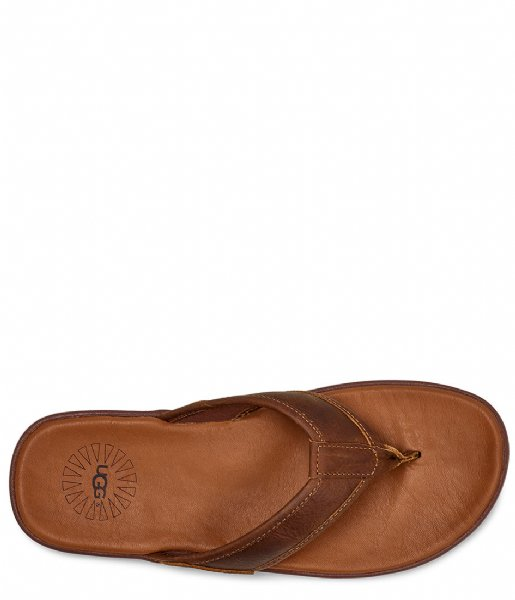 UGG Slippers Seaside Flip Leather Luggage