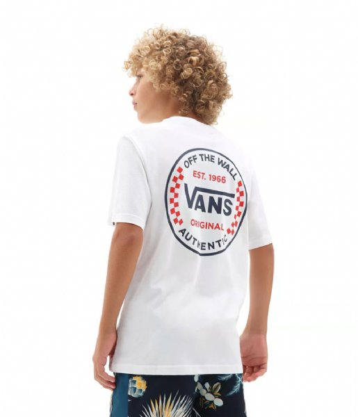 Vans T-shirt By Authentic Checker Ss Boys White