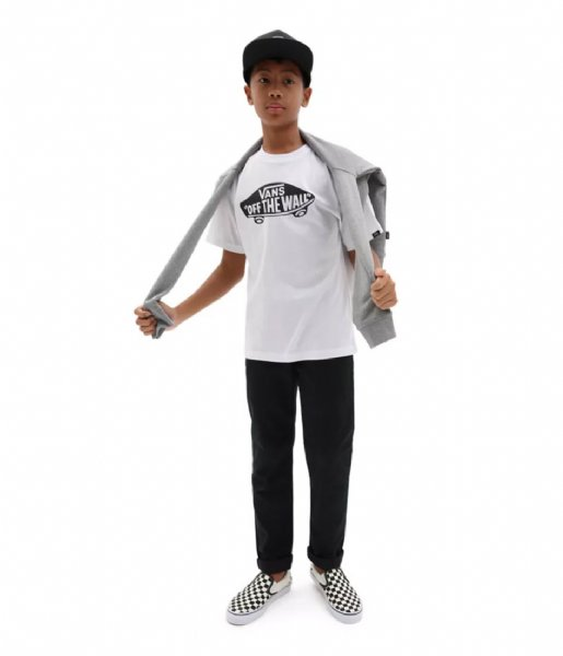 Vans T-shirt By Of The Wall Boys White/black