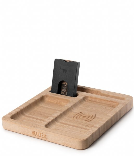 Walter Wallet Smartphone cover Walter Dock Charger bamboo