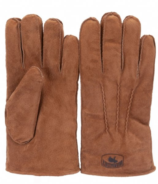 Warmbat Handschoenen Gloves Men Suede cognac (GLO401025)