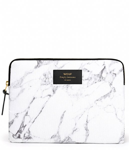 Wouf Tablet sleeve White Marble Ipad White